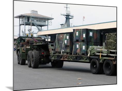 A U.S. Marine Corps MK48 Logistics Vehicle System-Stocktrek Images-Mounted Photographic Print