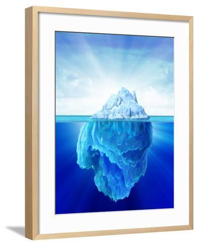 Solitary Iceberg in the Sea-Stocktrek Images-Framed Art Print
