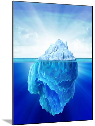 Solitary Iceberg in the Sea-Stocktrek Images-Mounted Photographic Print
