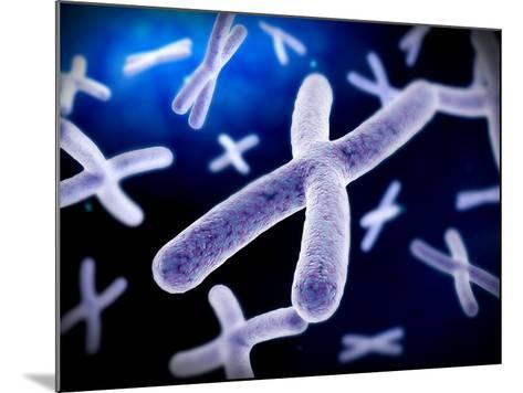 Microscopic View of Chromosome-Stocktrek Images-Mounted Photographic Print