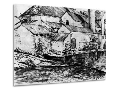 The Old Mill On the Exe-Tim Kahane-Metal Print