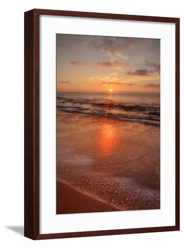 Sunrise on the Eastern Shore of Kauai-Vincent James-Framed Art Print