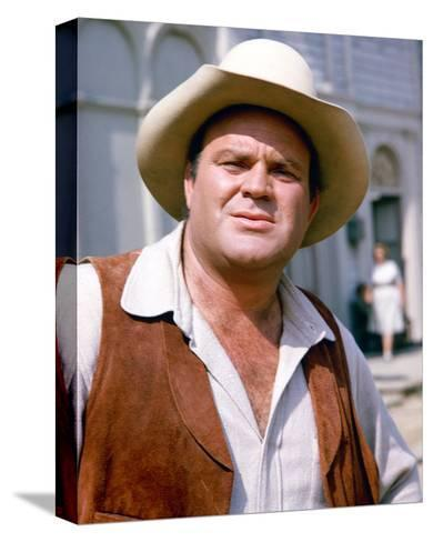 Dan Blocker - Bonanza--Stretched Canvas Print