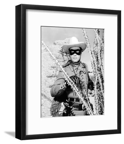 Clayton Moore - The Lone Ranger--Framed Art Print