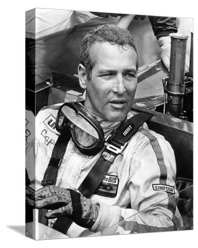 Paul Newman - Winning--Stretched Canvas Print