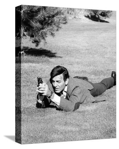 Mike Connors - Mannix--Stretched Canvas Print