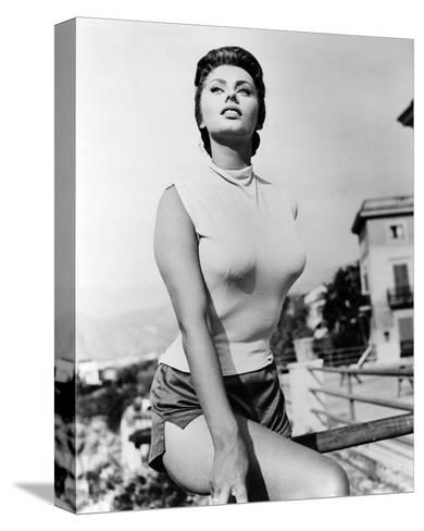 Sophia Loren--Stretched Canvas Print