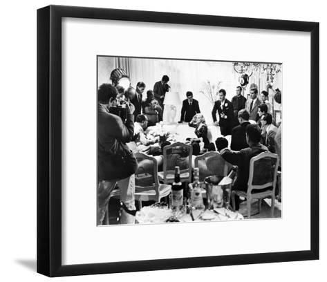 La Dolce Vita, Anita Ekberg--Framed Art Print