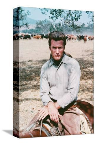 Clint Eastwood - Rawhide--Stretched Canvas Print