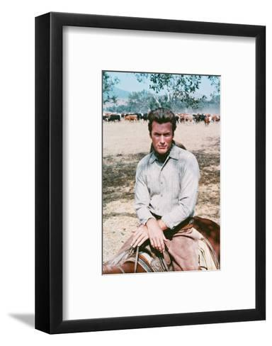 Clint Eastwood - Rawhide--Framed Art Print