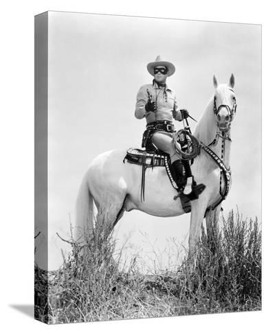 Clayton Moore - The Lone Ranger--Stretched Canvas Print