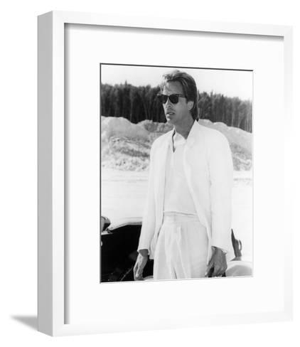 Don Johnson - Miami Vice--Framed Art Print