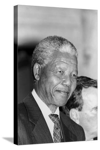 Nelson Mandela-Vandell Cobb-Stretched Canvas Print