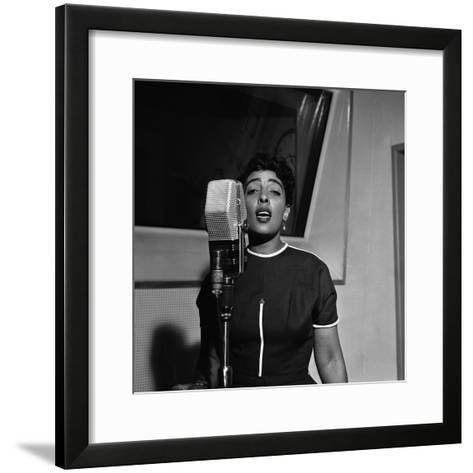 Carmen McRae, CBS Radio 1955-G. Marshall Wilson-Framed Art Print
