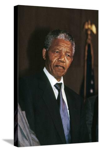 Nelson Mandela-Fred Watkins-Stretched Canvas Print