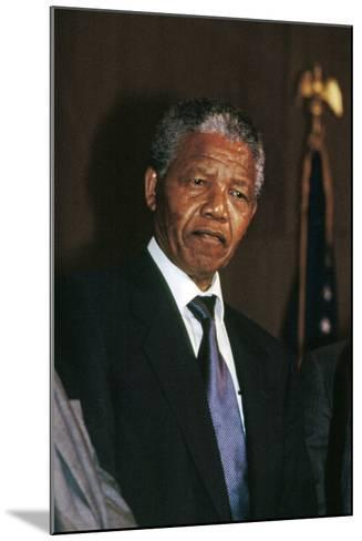 Nelson Mandela-Fred Watkins-Mounted Photographic Print
