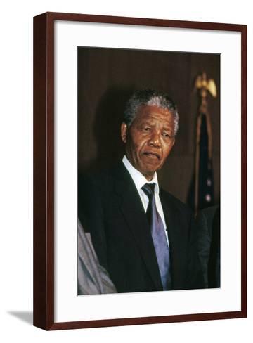 Nelson Mandela-Fred Watkins-Framed Art Print
