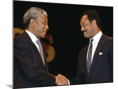 Nelson Mandela--Mounted Photographic Print