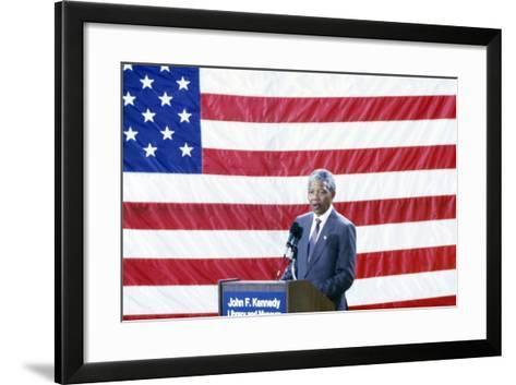 Nelson Mandela, 1990-Fred Watkins-Framed Art Print