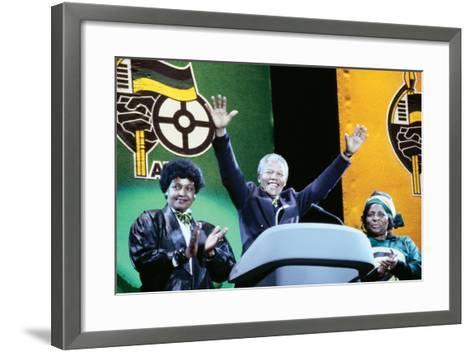 Nelson Mandela, London 1990--Framed Art Print