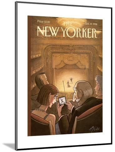 The New Yorker Cover - October 19, 1998-Harry Bliss-Mounted Premium Giclee Print