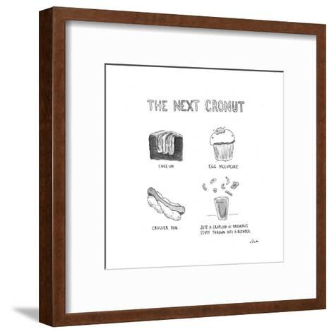 The Next Cronut - Cartoon-Emily Flake-Framed Art Print
