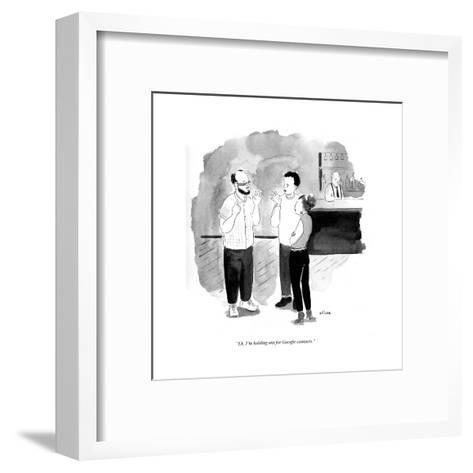 """""""Eh, I'm holding out for Google Contacts."""" - Cartoon-Emily Flake-Framed Art Print"""