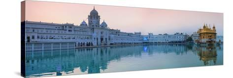 India, Punjab, Amritsar, the Harmandir Sahib,  Known As the Golden Temple-Jane Sweeney-Stretched Canvas Print