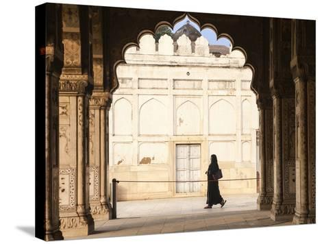 India, Delhi, Old Delhi, Red Fort, Diwan-i-Khas- Hall of Private Audience-Jane Sweeney-Stretched Canvas Print