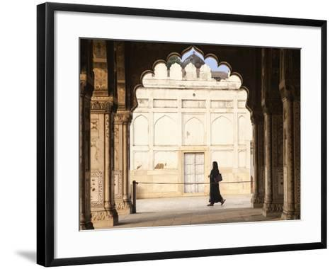 India, Delhi, Old Delhi, Red Fort, Diwan-i-Khas- Hall of Private Audience-Jane Sweeney-Framed Art Print