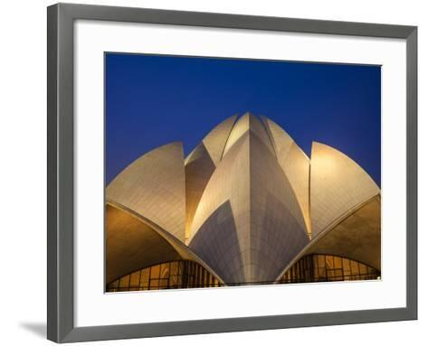 India, Delhi, New Delhi, Bahai House of Worship Know As the The Lotus Temple-Jane Sweeney-Framed Art Print