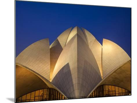 India, Delhi, New Delhi, Bahai House of Worship Know As the The Lotus Temple-Jane Sweeney-Mounted Photographic Print