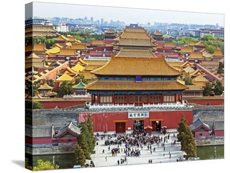 China, Beijing, the Forbidden City in Beijing Looking South-Gavin Hellier-Stretched Canvas Print