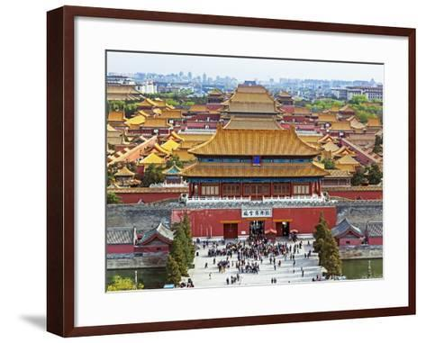 China, Beijing, the Forbidden City in Beijing Looking South-Gavin Hellier-Framed Art Print