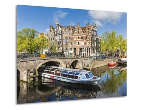 Canal, Amsterdam, Holland, Netherlands-Peter Adams-Metal Print