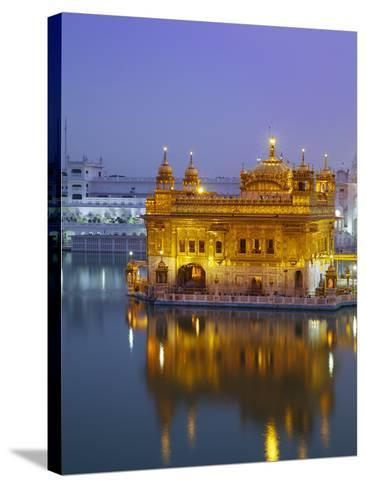 India, Punjab, Amritsar, the Harmandir Sahib,  Known As the Golden Temple-Jane Sweeney-Stretched Canvas Print