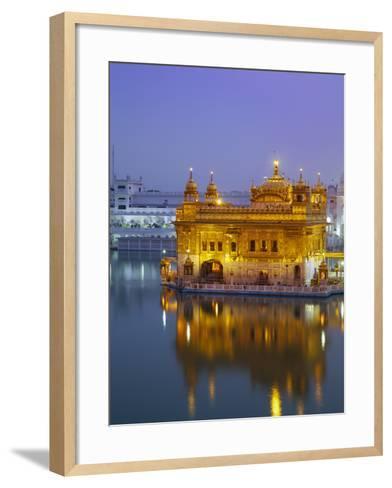 India, Punjab, Amritsar, the Harmandir Sahib,  Known As the Golden Temple-Jane Sweeney-Framed Art Print