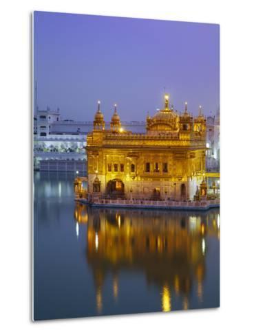 India, Punjab, Amritsar, the Harmandir Sahib,  Known As the Golden Temple-Jane Sweeney-Metal Print
