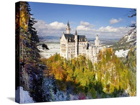 Neuschwanstein Castle, Bavaria, Germany, Europe-Gavin Hellier-Stretched Canvas Print