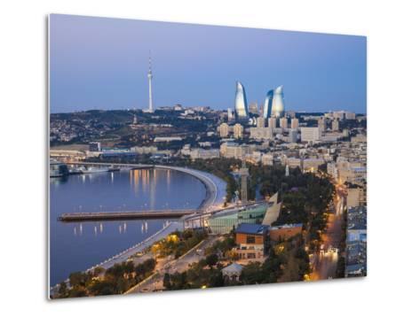 Azerbaijan, Baku, View of City Looking Towards the Baku Business Center on the Bulvur-Jane Sweeney-Metal Print