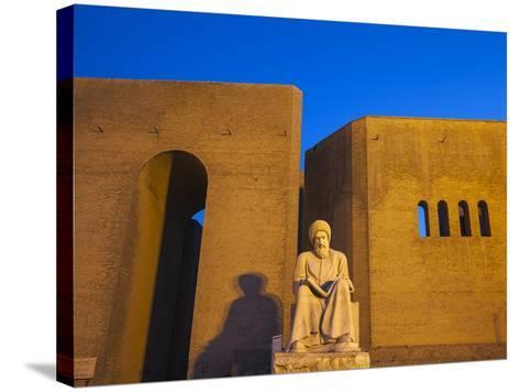Iraq, Kurdistan, Erbil, Statue of Mubarak Ben Ahmed Sharaf-Aldin at Main Entrance To the Citadel-Jane Sweeney-Stretched Canvas Print