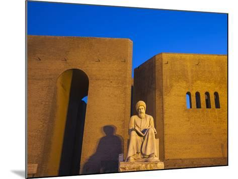 Iraq, Kurdistan, Erbil, Statue of Mubarak Ben Ahmed Sharaf-Aldin at Main Entrance To the Citadel-Jane Sweeney-Mounted Photographic Print