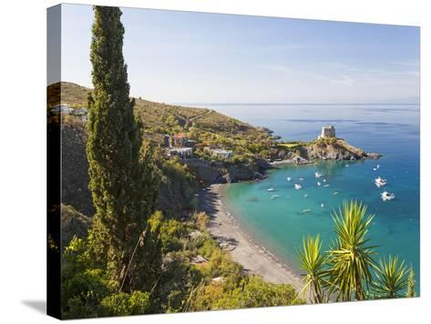 Remains of the Watchtower, Carpino Bay, Scalea, Calabria-Peter Adams-Stretched Canvas Print