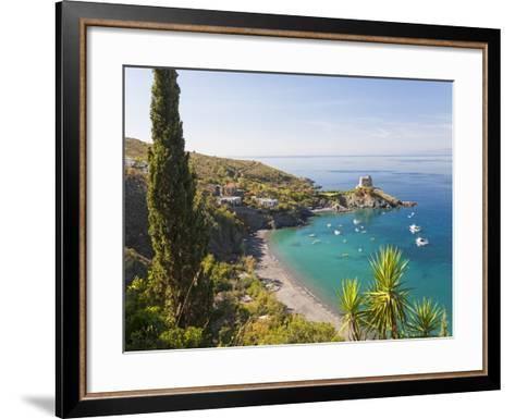 Remains of the Watchtower, Carpino Bay, Scalea, Calabria-Peter Adams-Framed Art Print
