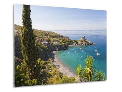 Remains of the Watchtower, Carpino Bay, Scalea, Calabria-Peter Adams-Metal Print