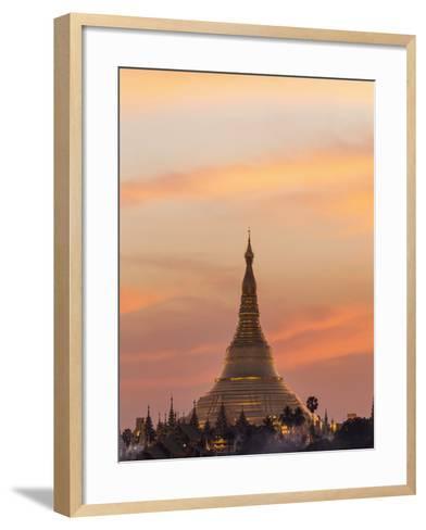 Myanmar (Burma), Yangon, Shwedagon Pagoda-Steve Vidler-Framed Art Print