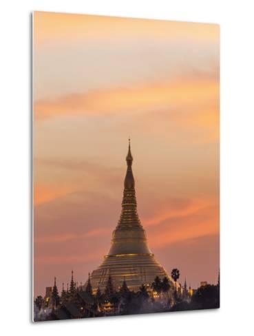 Myanmar (Burma), Yangon, Shwedagon Pagoda-Steve Vidler-Metal Print