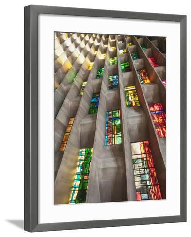England, Warwickshire, Coventry, New Coventry Cathedral-Steve Vidler-Framed Art Print