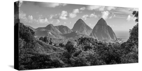 Caribbean, St Lucia, Petit and Gros Piton Mountains (UNESCO World Heritage Site)-Alan Copson-Stretched Canvas Print