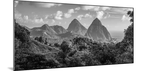 Caribbean, St Lucia, Petit and Gros Piton Mountains (UNESCO World Heritage Site)-Alan Copson-Mounted Photographic Print